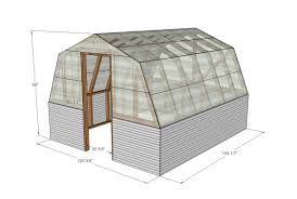 barn style greenhouse plan