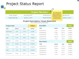 Project Status Slide Project Status Report Slide Template Project Project Status