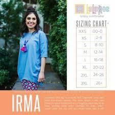 New Lularoe Mystery Irma Tunic Top Shirt Tee 2xs Xs S M L Xl