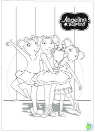 Small Picture Get This Printable Angelina Ballerina Coloring Pages Online 106081
