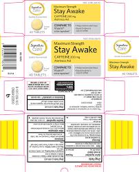 stay awake maximum strength better living brands llc caffeine full full size image