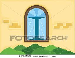 house window clipart. Contemporary Clipart Clip Art  House Window Outside Wall Vector Fotosearch Search Clipart  Illustration Posters On Clipart I