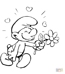 Excited Smurf Coloring Page Cool Smurfs Pages 14 For Gallery Ideas