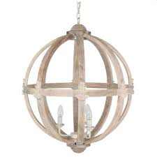 large orb chandelier. Large Round Wooden Orb Chandelier | Cowshed Interiors
