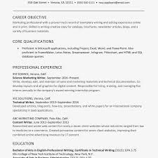 Marketing Experience Resume Resume For A Marketing And Writing Professional