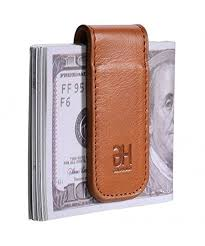 magnetic genuine leather business holder