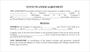 Event Planner Contract Cool Wedding Planner Template Download