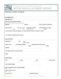 Accident Report Form Template To Cool Motor Vehicle Work Employee ...