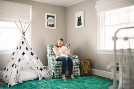 green nursery rug and upholstered glider project nursery green woodland nursery