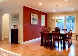 image of red accent wall colors