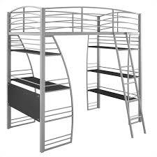 twin gray dhp studio loft bunk bed over