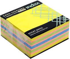 <b>Index Бумага</b> для заметок с липким слоем 7,6 х 7,5 см цвет ...