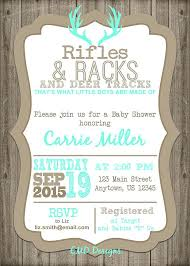 Baby Boy Shower Announcements Baby Boy Shower Invitation Hunting