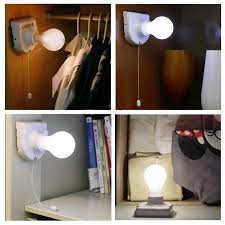 wireless closet lighting. portable energy saving white stick up lights cordless wireless battery operated night light bulb licht closet lighting e
