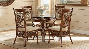 round dining room set. Island Sunrise Brown Rattan 5 Pc Dining Set Round Room