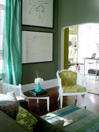 ... Living Room Color Schemes With Green Nuance With Sofa And Carpet Also  Laptop ...
