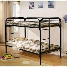 Black Metal Twin over Twin Bunk Bed Mattress Superstore