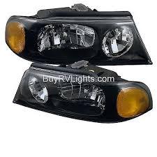 windsor 2002 2003 2004 pair front head lights lamps windsor 2002 2003 2005 2006 pair black headlights head lights lamps rv