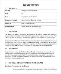 Medical Records Administrator Job Description Medical Records Clerk ...