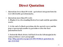 Direct Quote Best Direct Quote Apa Format Seatledavidjoelco