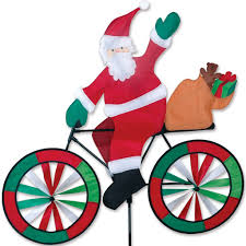 Small Picture Amazoncom Premier Designs PD25996 Santa Bicycle Spinner Yard