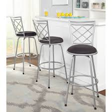 metal swivel bar stools with back. Exciting Bar Stools Walmart For Your Home Design: Set Of 3 Grey Metal Swivel With Back C