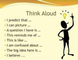 Image result for think aloud template