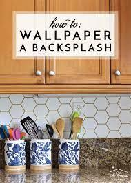 Wallpaper backsplash kitchen ...