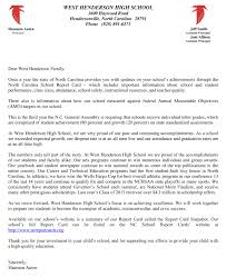 nc school report card west henderson high school letter from principal about nc school report cards