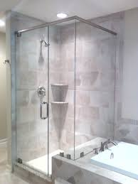Decoration: Shower Enclosure Sliding Glass Door Ceramic Tiles White Curtain  Bathroom Water Spray Sprinkle Stainless Steel Frameless Design Ideas Dark  Light ...