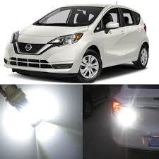 2008 Nissan Versa Brake Light Bulb Alla Lighting 2x Super Bright 6000k White 7528 12499 Ll P21 5w Led Bulbs For Rear Brake Stop Tail Light Lamp For 2007 2008 2009 2010 2011 2012 2013