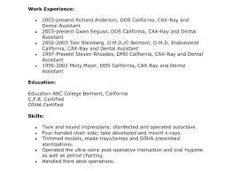 Dental Assistant Objective For Resume Endodontist Resume Awesome Collection Dental Assistant Resume 26