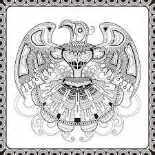 Mysterie Vogel Totem Kleurplaat Stockvector Kchungtw 82669022