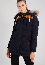 schott nyc edith winter jacket dark blue for women