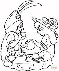 Small Picture Tea Party coloring page Free Printable Coloring Pages