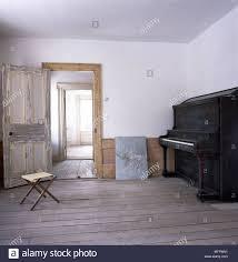 Room Skirting Designs Country Neutral Minimalist Room Stripped Floorboards Door