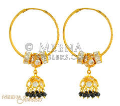 22kt gold chandelier hoops