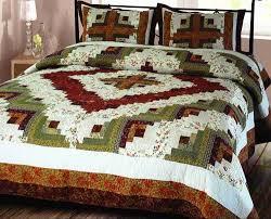Buy Log Cabin Quilt King Handmade Bedding Ensembles at ... & Log Cabin Quilt King Handmade Bedding Ensembles 106