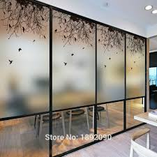 etched glass window clings free size custom made stained glass window sliding door