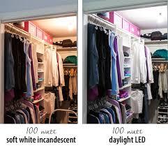 clothes closet lighting comparison