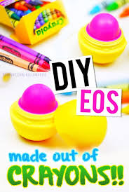 diy eos lip balm refill using crayons make y our own color lip balm
