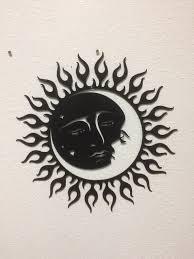 sun moon stars metal art wall art home