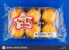 Cellophane Packet Of 12 Tesco Fairy Cake Buns Best Before 25th April