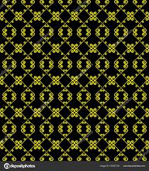 Decoratieve Naadloze Patroon Zwarte En Gele Kleuren