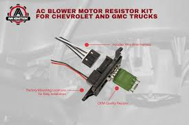 amazon com ac blower motor resistor kit with harness replaces  at Ac Blower Resistor Motor Wire Harness 2006 Chevy Trailblazer