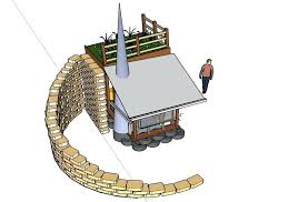 earthbag retaining wall rear side view with retaining wall earth bag retaining wall plans