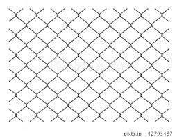金網フェンス 背景素材のイラスト素材 42793487 Pixta