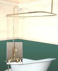 turn tub into shower enclosure combo w leg faucet how to convert cost walk in conversion