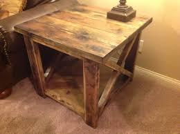 rustic end tables. Rustic X End Table Tables I