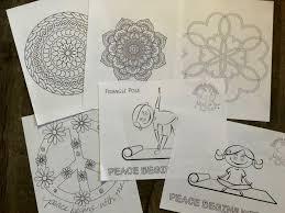 Printable yoga pose coloring page. Yoga Coloring Page Bundle Kids Yoga Coloring Pages Printable Kidding Around Yoga Shop